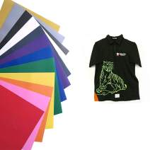 """BetterSub Vinyl HTV Heat Transfer Vinyl 25 Sheets 12"""" X 10""""Assorted Colors Works with Cricut Cutters and Other Cutters"""