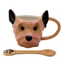 3D Hand Painted Dog Coffee Tea Ceramic Mug Cute Pet Perfect Dog Lover (Yorkshire Terrier (Small))