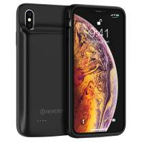 NEWDERY Battery Case for iPhone Xs Max, 10000mAh Charging Extended Battery Pack Case Compatible with iPhone Xs Max, Portable Rechargeable Battery Case Protective Backup Charger Case 6.5inch