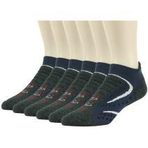 Facool Men's Dry-Fit Athletic Padded Hiking Trekking Running Walking Ankle/Crew Socks 6Pairs