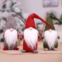 Flying Spoon 18 inch Handmade Swedish Christmas Santa Claus Tomte Long Hat Gnome Plush Doll Handmade Home Decor Collectible Dolls Desktop Ornament
