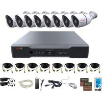 Revo America AeroHD 8Ch. 4MP DVR, 2TB HDD Video Security System, 8 x 1080p IR Bullet Cameras Indoor/Outdoor - Remote Access via Smart Phone, Tablet, PC & MAC
