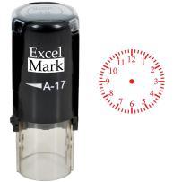 Clock - ExcelMark Self-Inking Round Teacher Stamp - Red Ink