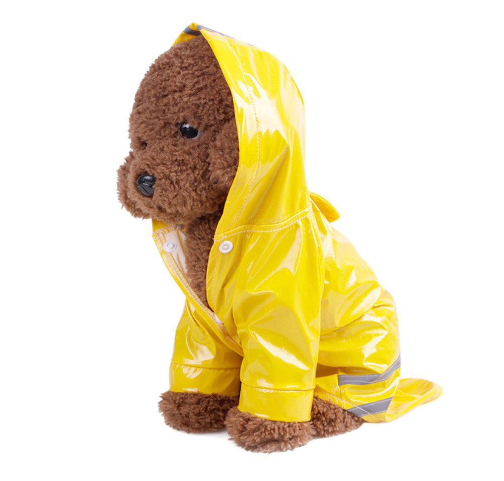 Topsung Dog Raincoat Pet Poncho with Hood Waterproof Rain Coat Jacket for Small Dogs