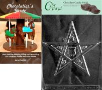 Cybrtrayd Eastern Star Chocolate Candy Mold with Chocolatier's Guide