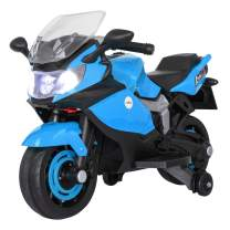 TOBBI Kids Ride On Toy Racing Style Motorcycle Electric Tricycle Battery Operated with Light and MP3 Blue