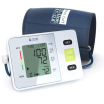 Clinical Automatic Upper Arm Blood Pressure Monitor - Accurate, FDA Approved - Adjustable Cuff, Large Screen Display, Portable Case - Irregular Heartbeat & Hypertension Detector by Generation Guard