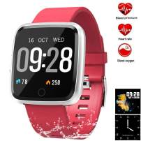 feifuns Smart Watch,Fitness Tracker Watch with Heart Rate/Blood Pressure/Oxygen Monitor,Sleep Tracker Step/Calorie Counter for Women Men Android & iPhone