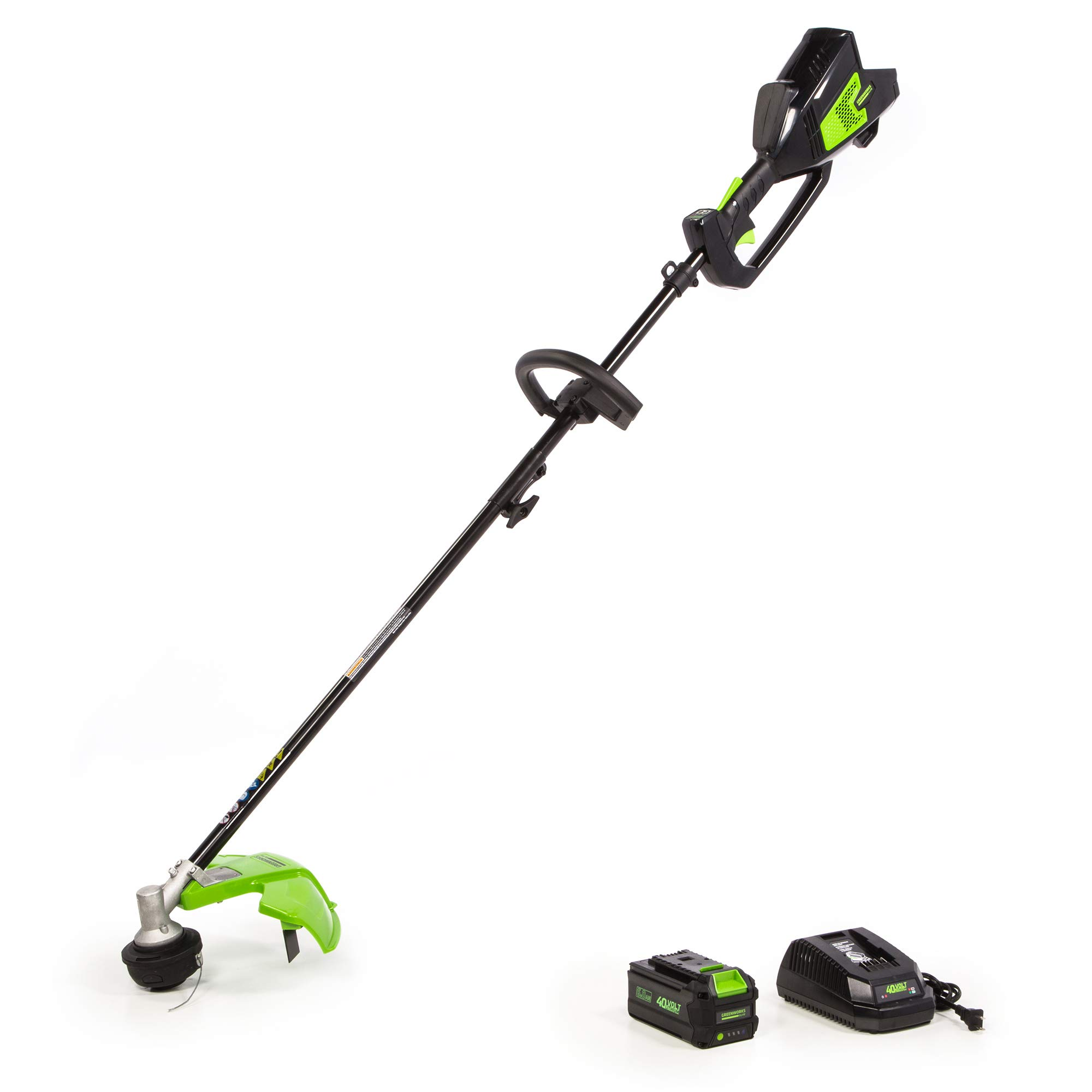 Greenworks 14-Inch 40V (Attachment Capable) String Trimmer, 6.0Ah Battery and Charger Included ST-140-A