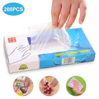 Disposable Gloves, Plastic Gloves BPA-Free for Kitchen Cooking Cleaning Food Handling, Powder-Free (200 PCS)