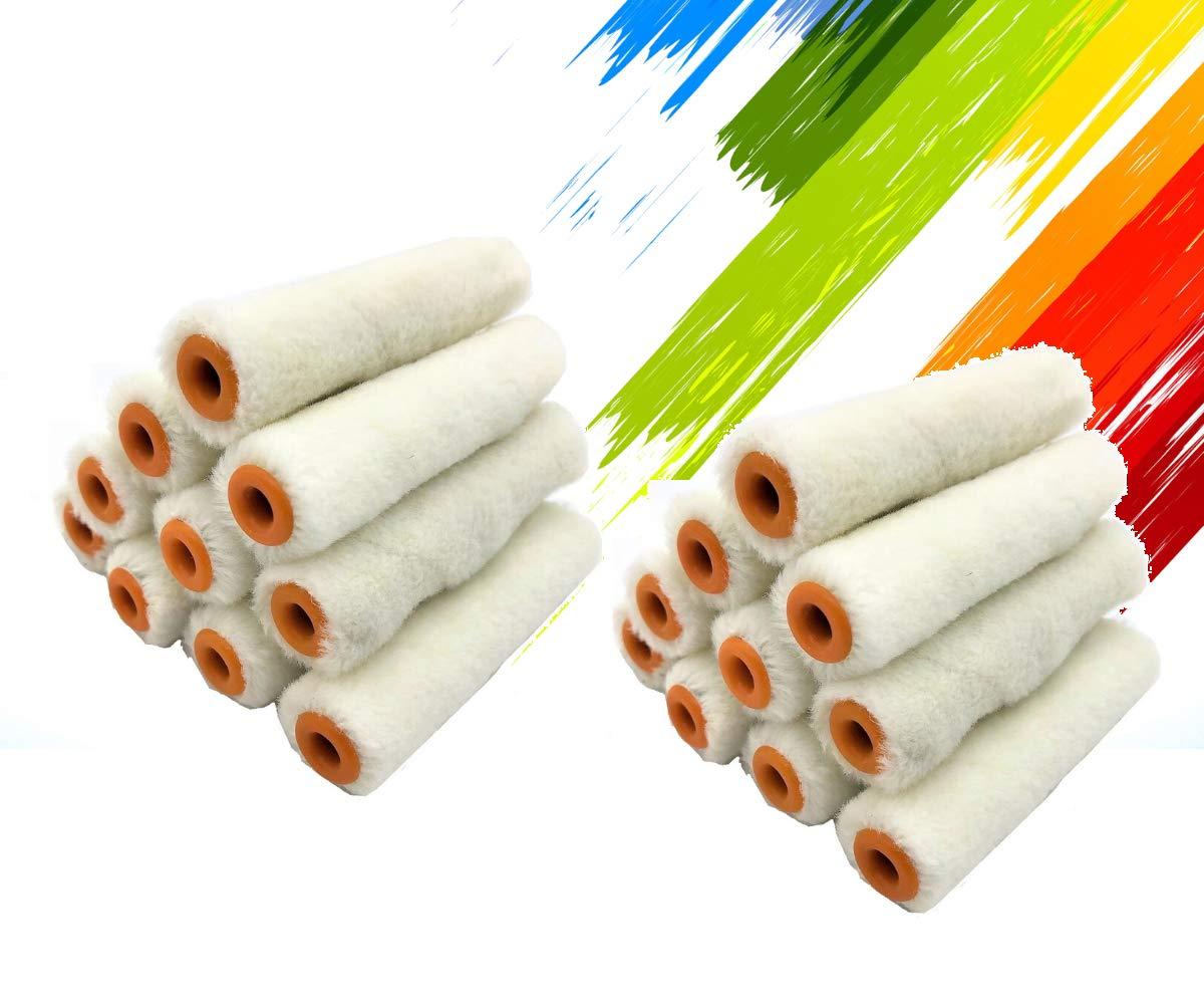 PANCLUB Paint Roller Mini Covers   4 Inch Roller Covers Pack of 20 Packs   Covers for Paint Rollers   Naps for Paint Roller Brush   House Painting   Covers for Roller Frame   Paint Roller Kit