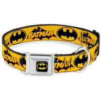Buckle-Down Seatbelt Buckle Dog Collar - Vintage Batman Logo & Bat Signal-3 Yellow