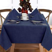 "Ruvanti Table Cloth (60X84"") 6-8 Seats.Premium Quality 100%Cotton Rectangle Tablecloth.Washable & Reusable Table Cloths.Blue Table Cover for Buffet Table, Parties,Holiday Dinner,Wedding & More."