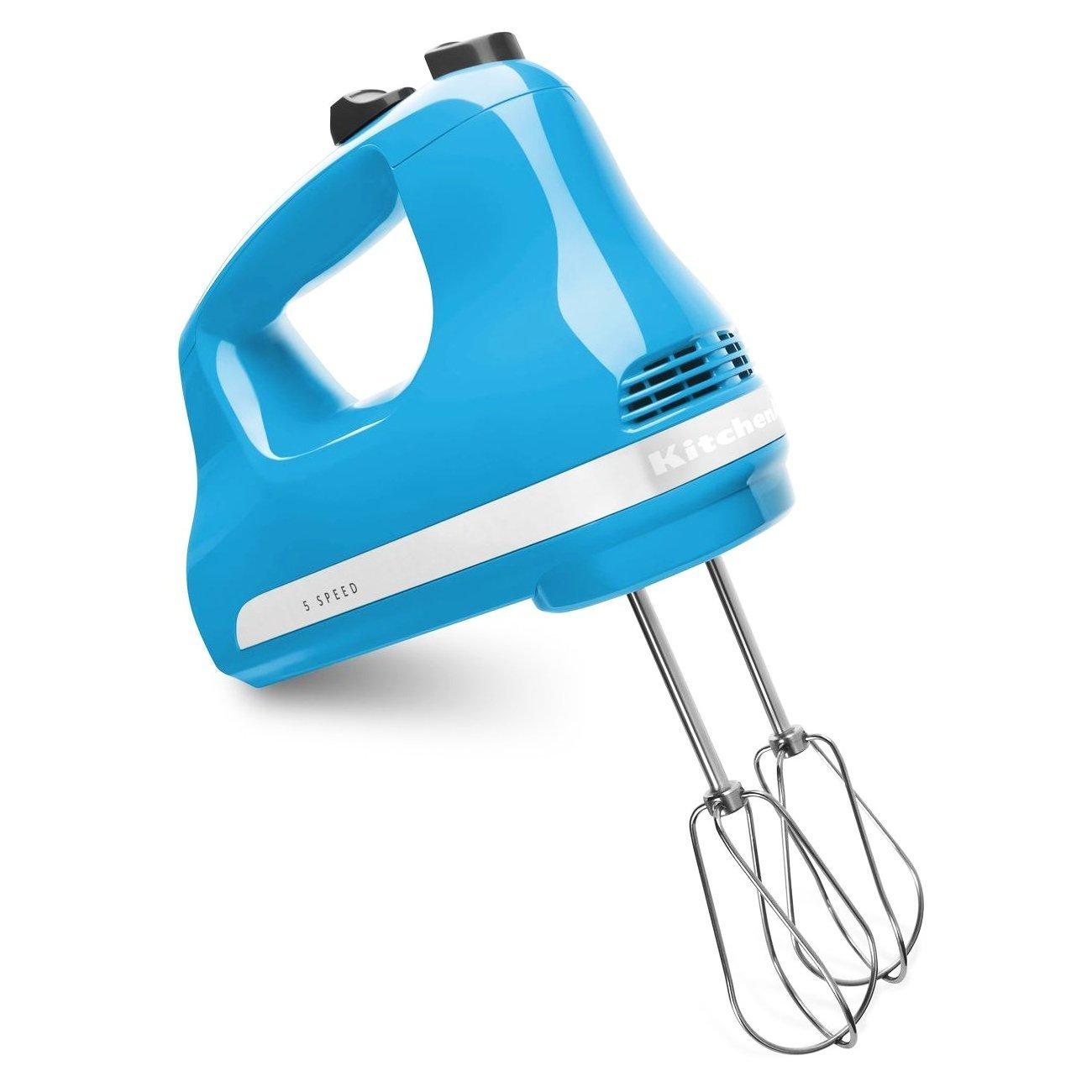 KitchenAid KHM512CL 5-Speed Ultra Power Hand Mixer, Crystal Blue
