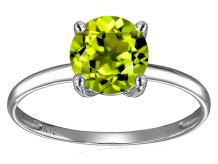 Star K Solid 14k White Gold 7mm Round Solitaire Promise Ring