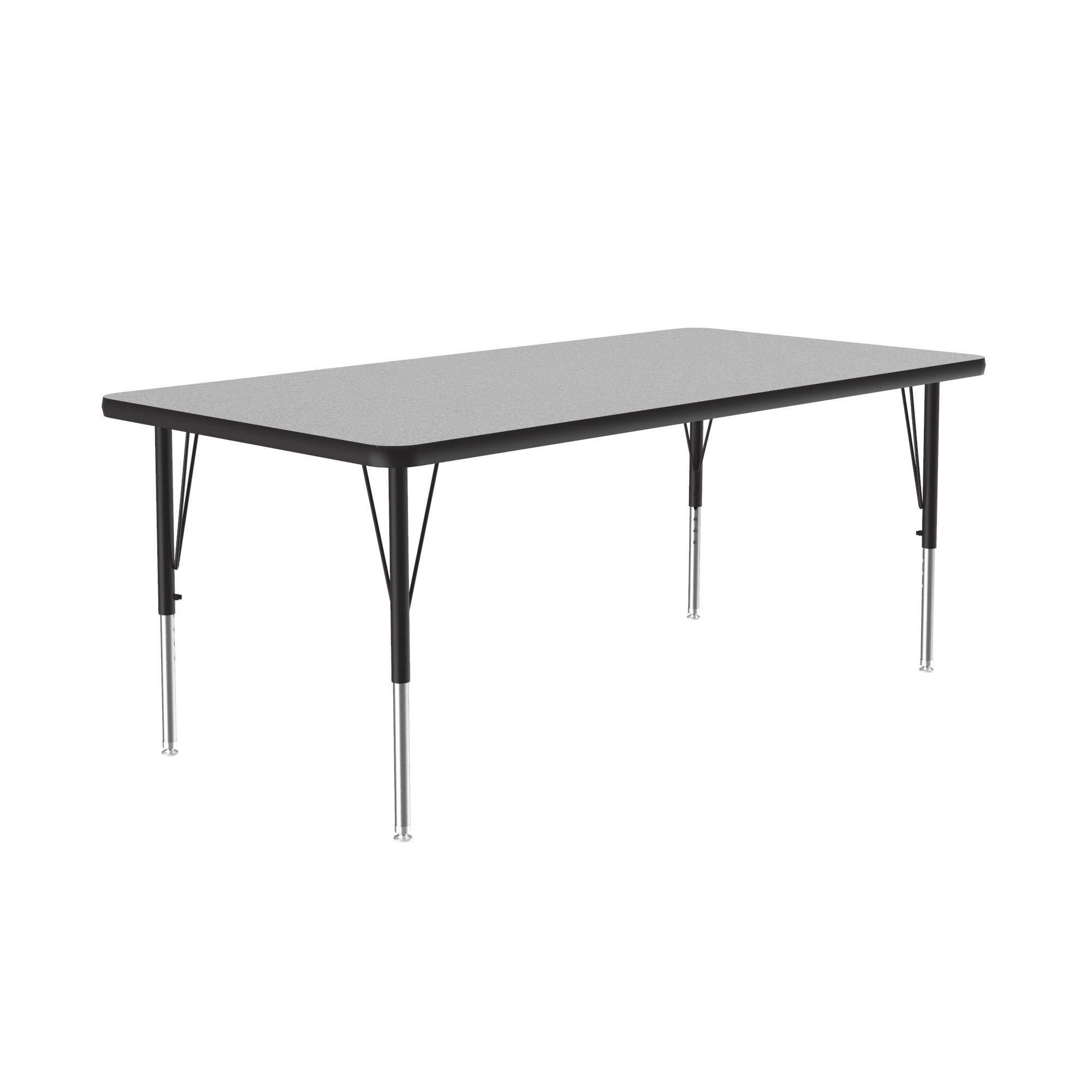 "Correll A2448-REC-15 Rectangular Activity Table, 24""x48"", Gray Granite"