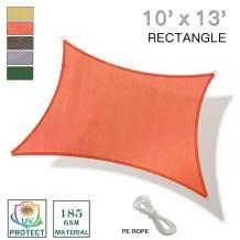 REPUBLICOOL 10'x13' Terra Rectangle Sun Shade Sail UV Block for Outdoor Patio Garden
