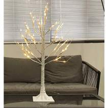CUIFULI Lighted Birch Tree, 24 LED Twig Tree with Lights up Decorative Branches Tree Warm White Pre Lit Birch Tree Branch Lights for Indoor Holiday Wedding Party Xmas Decoration White