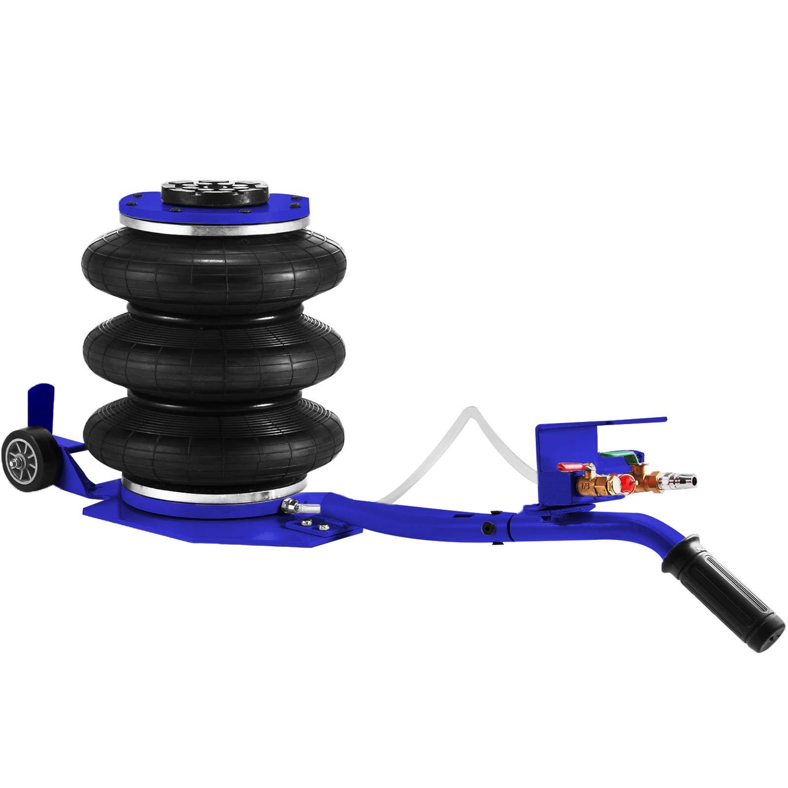 Mophorn Triple Bag Air Jack 6600lbs Pneumatic Jack 3 Ton Car Jack Lifting Up to 16 Inch Portable Repair(Blue)