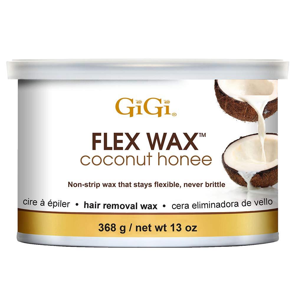 GiGi Coconut Honee Flex Wax - Non-Strip Hair Removal Wax, 13 oz