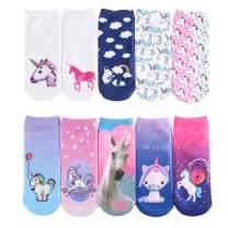 SherryDC Women's Unicorn Emoji Food Animal Graphic Photo 3D Print Funny Novelty Ankle Socks Pack
