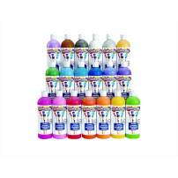 Colorations SWTALL  Simply Washable Tempera Paints, 16 fl oz, Set of 19 Colors, Non Toxic, Vibrant, bold, Kids Paint, Craft, Hobby, Arts & Crafts, Fun, Art Supplies,Assorted Set