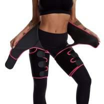 Best Companions 3 in 1 Waist and Thigh Trimmer Support, Butt Lifter, Weight Loss Slimmer, Fat Burner, Good Workout Partner Red High Waist XL