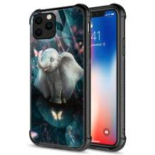 iPhone 11 Pro Max Case, Tempered Glass iPhone 11 Pro Max Cases Baby Elephant,Fashion Cute Pattern Design Cover Case for iPhone 11 Pro Max 6.5-inch Baby Elephant