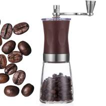 Taktik Coffee Grinder Manual Coffee Grinder with Ceramic Burrs Brown Burr Coffee Grinders Hand Coffee Mill