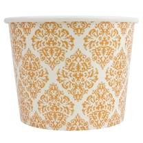 Elegant Gold Paper Dessert Cups - 12 oz Holiday Ice Cream Bowls - Gold Paper Ice Cream Cups Perfect For Weddings - Frozen Dessert Supplies - 50 Count