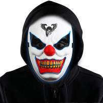 Halloween Mask LED Light Up Mask for Festival Cosplay Halloween Costume