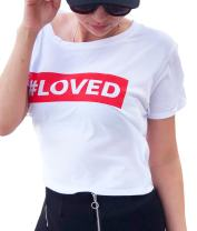 LeRage Shirts #Loved Shirt Crop Tee Style Couples Shirt Women's