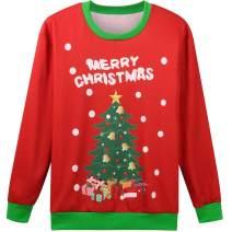 Hsctek Cute Ugly Christmas Sweater Sweatshirt for Kids