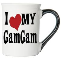Cottage Creek GamGam Large 18 Ounce Ceramic I Love My GamGam Coffee Mug/GamGam Gifts Grandma Mug [White]