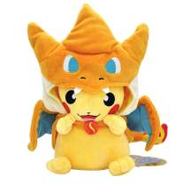 "Charizard Pikachu Plush Stuffed Animal Toy Pikachu Go Pillow 9.8"""