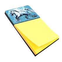 Caroline's Treasures MW1171SN Shadow The Horse in Blue Refiillable Sticky Note Holder or Postit Note Dispenser, Large, Multicolor