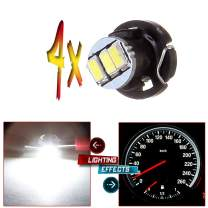 cciyu 4 Pack White 3-3014SMD T4/T4.2 Neo Wedge LED A/C Climate Control Light Bulbs for Indictor Light Instrument Panel Guage Cluster Light