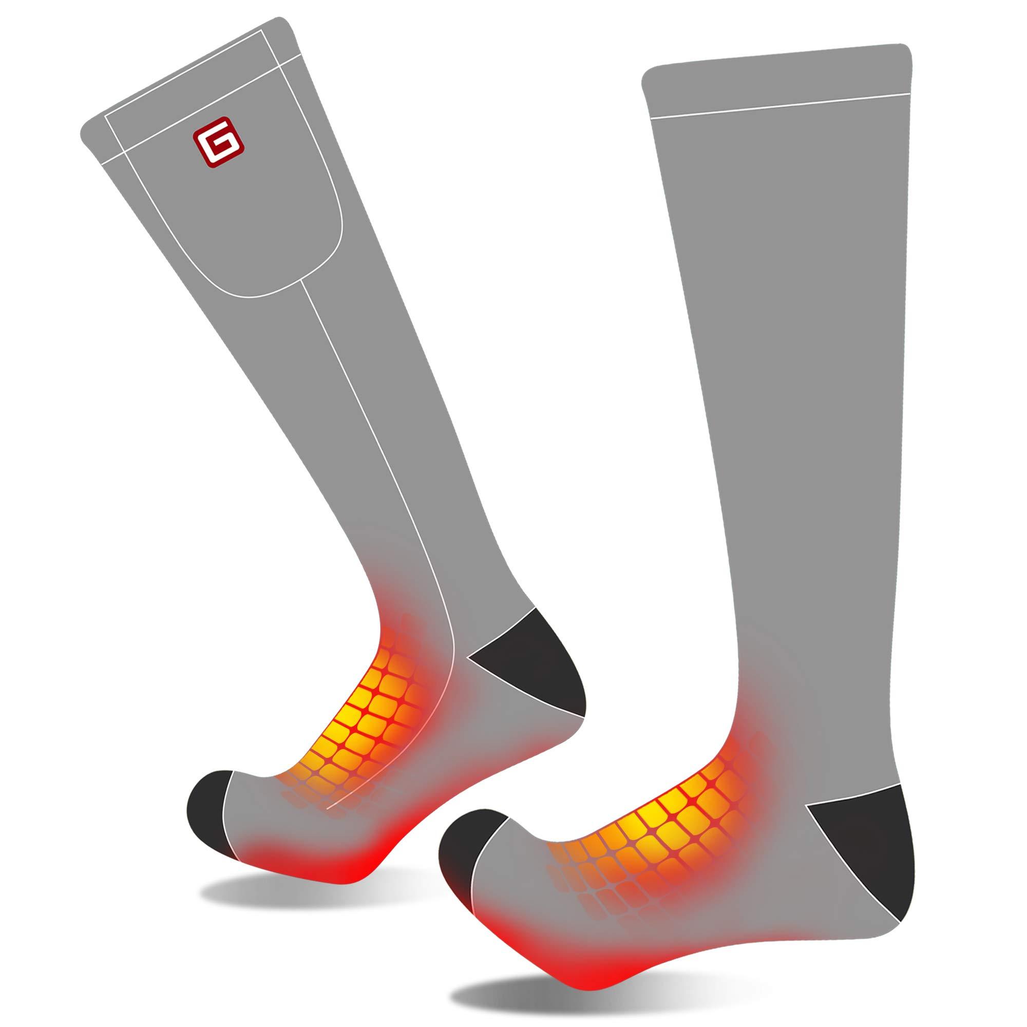 Men Women Rechargeable Electric Heated Socks Battery Heat Sox Kit