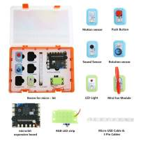 DFRobot Boson Starter Kit for Micro:bit - Microbit inventor's kit Included Sensor Kit and Expansion Board - Suitable for Steam Education