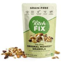 Kitchfix Grain-Free Paleo Granola | Vegan Plant-Based Protein From Nuts and Seeds | Certified Gluten-Free | Low Sugar, Low Carb Granola | Roasted in Pure Coconut Oil | Original , 10 Ounce