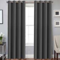 H.VERSAILTEX Blackout Window Treatment Curtains/Panels, Thermal Insulated Room Darkening Solid Grommet Drapes for Bedroom/Living Room Window (52 Inch by 108 Inch, Charcoal Gray, Set of 2)
