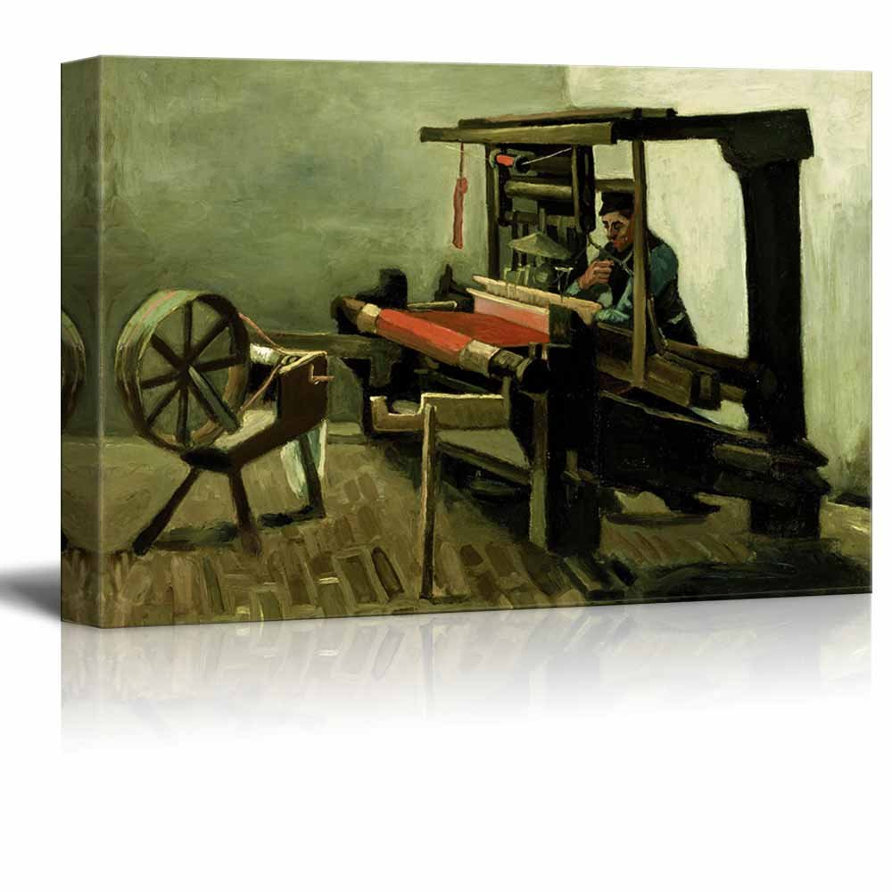 """wall26 - Weaver by Vincent Van Gogh - Canvas Print Wall Art Famous Painting Reproduction - 16"""" x 24"""""""