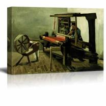 """wall26 - Weaver by Vincent Van Gogh - Canvas Print Wall Art Famous Painting Reproduction - 12"""" x 18"""""""
