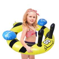 QUN FENG Pool Floats Swim Ring Inflatable Pool Swimming Tube Animal Pool Float for Kids 6 Years up,Bee