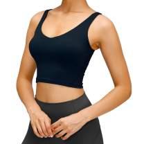 PARPERNA Women Padded Sports Bra Fitness Workout Running Shirts Yoga Tank Top