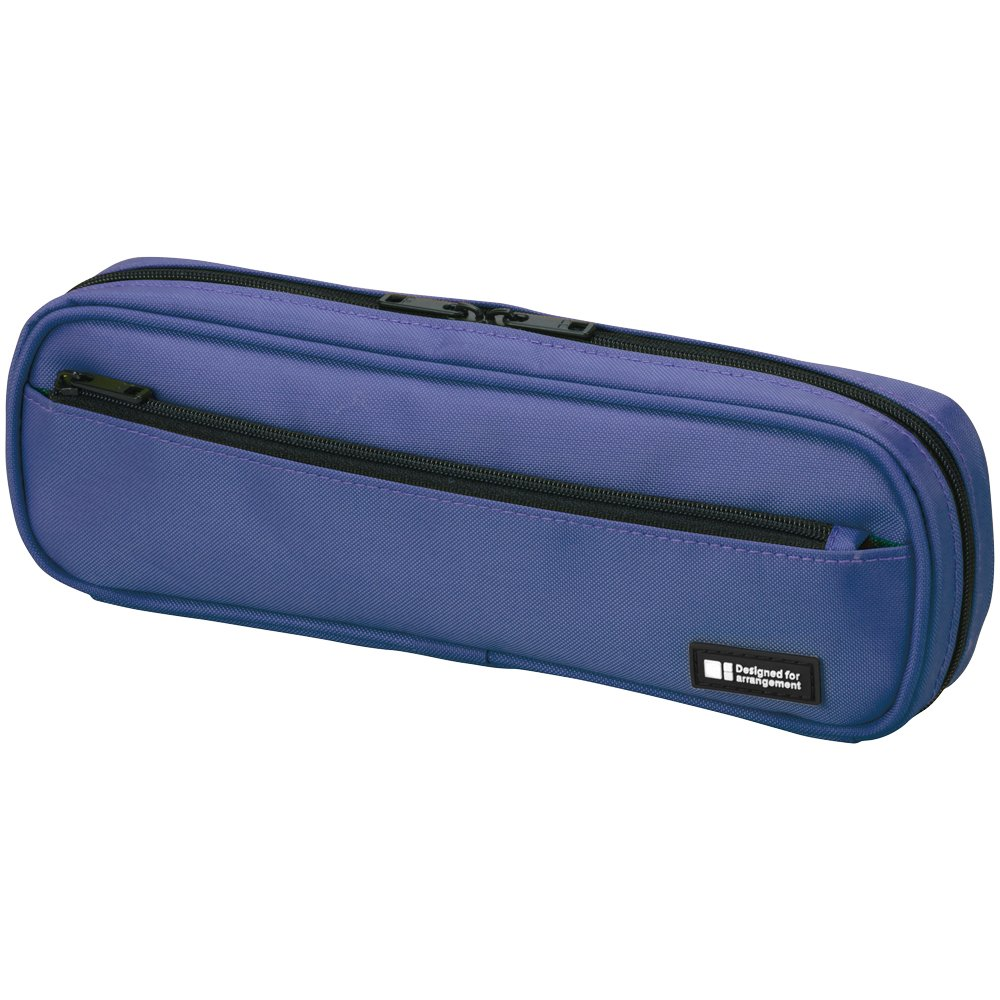 LIHIT LAB Pen Case, 9.4 x 1.8 x 3 inches, Blue (A7552-108)