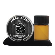 Badass Beard Care Beard Oil and Balm Trial Pack For Men - Secret Agent Scent - Natural Ingredients, Keeps Beard and Mustache Full, Soft and Healthy, Reduce Itchy, Flaky Skin, Promote Healthy Growth