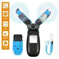 SeoJack Handheld Fan,Personal Mini USB Portable Fan with Beetle Appearance, Foldable Hanging Desk Fan for Kids Girls Woman Man Home Office Outdoor Travel,Blue