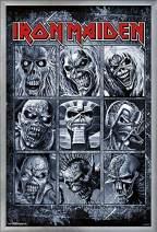 "Trends International Iron Maiden - Album Grid Wall Poster, 22.375"" x 34"", Silver Framed Version"