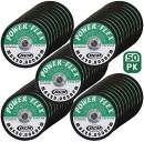 50 Pack - Cut Off Wheels 3 Inch x 1/32 Inch x 3/8 Inch For Cutting All Steel and Ferrous Metals.